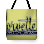 Vintage Corvette Sting Ray Emblem Tote Bag