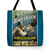 Vintage Creature From The Black Lagoon Poster Tote Bag