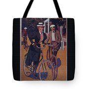 Vintage Cycle Poster March Davis Cycle 100 Dollars Tote Bag