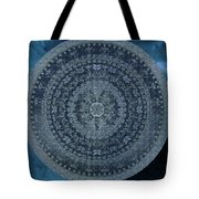 Vintage Denim Mandala Tote Bag