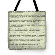 Vintage Desiderata Tote Bag