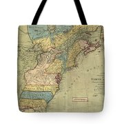 Vintage Discovery Map Of The Americas - 1771 Tote Bag