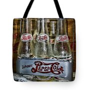 Vintage Double Dot Metal Pepsi Carrier. Tote Bag