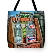 Vintage Double Dot Wooded Pepsi Carrier Tote Bag