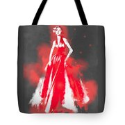 Vintage Dress Red Ball Gown - By Diana Van Tote Bag