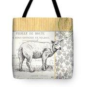 Vintage Farm 3 Tote Bag by Debbie DeWitt