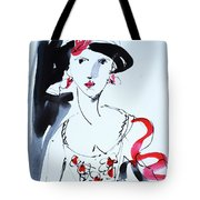 Vintage Fashion  Tote Bag