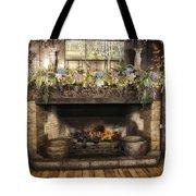 Vintage Fireplace Tote Bag