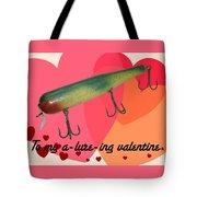Vintage Fishing Lure Valentine Card Tote Bag