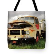 Vintage Flatbed Milk Truck Portrait Tote Bag