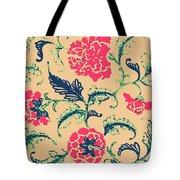 Vintage Flower Design Tote Bag