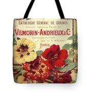 Vintage Flower Seed Cover Paris Rare Tote Bag