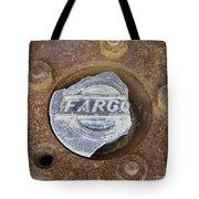 Vintage Fargo Wheel Art Tote Bag