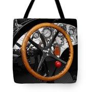 Vintage Ford Racer Dashboard Tote Bag