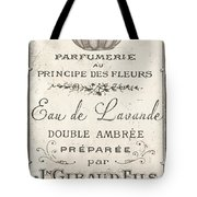Vintage French Perfume Sign Tote Bag