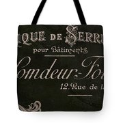 Vintage French Typography Sign Tote Bag
