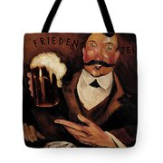 Vintage German Beer Advertisement, Friends Drinking Bier Tote Bag