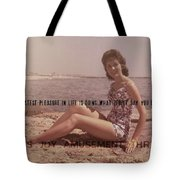 Vintage Glamour Quote Tote Bag