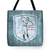 Vintage Golf Blue 1 Tote Bag