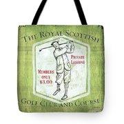 Vintage Golf Green 1 Tote Bag