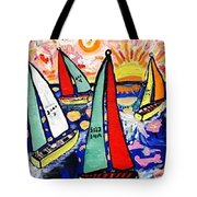 Vintage Green Bay Sailing Tote Bag