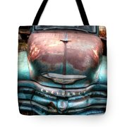 Vintage Green Chevy Truck Tote Bag