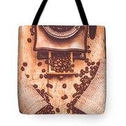 Vintage Grinder With Sacks Of Coffee Beans Tote Bag