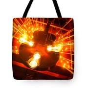 Vintage Guitar By Candlelight Tote Bag