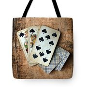 Vintage Hand Of Cards Tote Bag