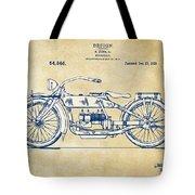 Vintage Harley-davidson Motorcycle 1919 Patent Artwork Tote Bag