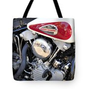 Vintage Harley V Twin Tote Bag by David Lee Thompson