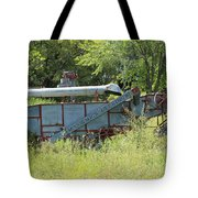 Vintage Harvester In A Field Tote Bag