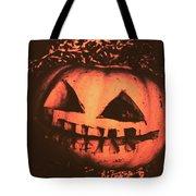 Vintage Horror Pumpkin Head Tote Bag