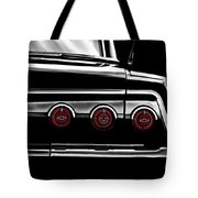 Vintage Impala Black And White Tote Bag