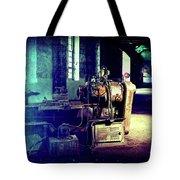 Vintage Industrial Blueprint Tote Bag