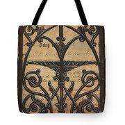 Vintage Iron Scroll Gate 1 Tote Bag by Debbie DeWitt