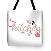 Vintage Kitchen Cookware Tote Bag