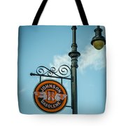 Vintage Lamp And Sign Tote Bag