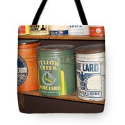 Vintage Lard Can Tote Bag