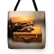 Vintage Leather Suitcases Tote Bag
