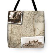 Vintage Map Ellis Island Immigrants Tote Bag