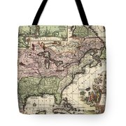 Vintage Map Of America - 1720 Tote Bag