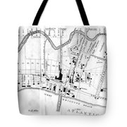 Vintage Map Of Coney Island  Tote Bag