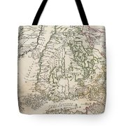 Vintage Map Of Finland - 1740s Tote Bag