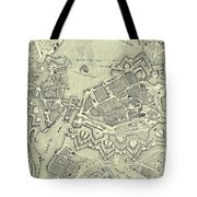 Vintage Map Of Geneva Switzerland - 1825 Tote Bag