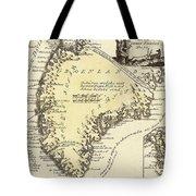 Vintage Map Of Greenland - 1791 Tote Bag