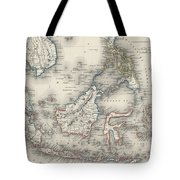 Vintage Map Of Indonesia And The Philippines Tote Bag