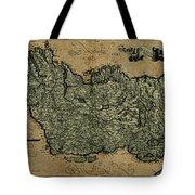 Vintage Map Of Ireland 1771 Tote Bag