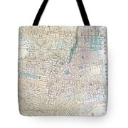Vintage Map Of Jersey City And Hoboken  Tote Bag