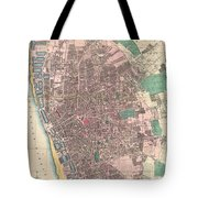 Vintage Map Of Liverpool England  Tote Bag